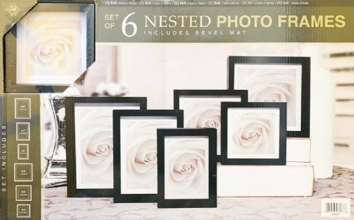 Loui Michel Cie Pack of 6 Nested Photo Frames Black